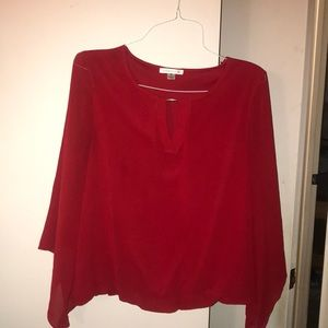 Long Sleeved Red Top